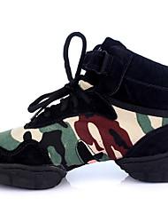 cheap -Women's Dance Shoes Canvas Dance Sneakers Flat Thick Heel Black / Performance