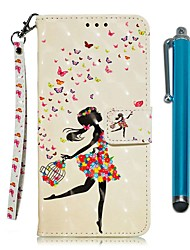 cheap -Case For LG Stylo 4 / LG Stylo 5 Wallet / Card Holder / with Stand Full Body Cases Black Girl PU Leather