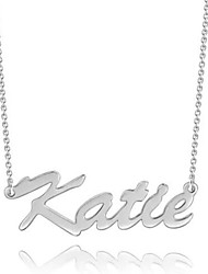 cheap -Personalized Customized Necklace Name Necklace Gift Daily Holiday irregular 1pcs Silver / Laser Engraving
