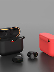 cheap -Silicone Case Full Cover for Sony wf-1000xm3 Comprehensive Protective Clamshell Opening Anti-shock Flexible Earphone Cover Simple Soft Case
