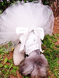 cheap -Dogs Dress Dog Clothes White Costume Baby Small Dog Polyster Solid Colored Wedding XS S M L XL XXL