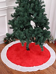 cheap -1pcs Christmas Tree Skirt Carpet 120cm  Decoration For Home Aprons New Year Decoration