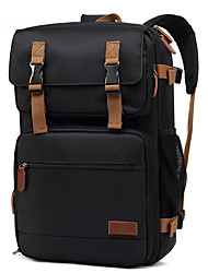 cheap -17 Inch Laptop Commuter Backpacks Canvas Solid Color Unisex Water Proof Shock Proof