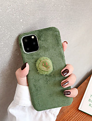 cheap -Case For Apple iPhone 11 / iPhone 11 Pro / iPhone 11 Pro Max Ultra-thin / Pattern Back Cover Solid Colored / Cartoon / Plush TPU / Cotton Fabric