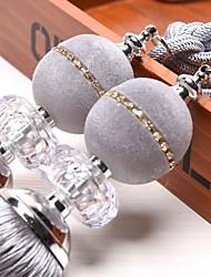 abordables -rideau Accessoires Dos attaché Moderne 2 pcs