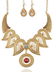 cheap -Women's Bridal Jewelry Sets Hollow Out Flower Vintage Earrings Jewelry Gold / Silver For Party 1 set