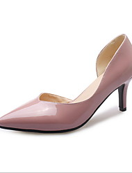 cheap -Women's Heels Low Heel Pointed Toe PU Summer Black / White / Pink / Daily