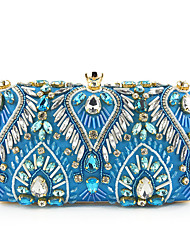 cheap -Women's Sequin / Chain Polyester / Silk Evening Bag Solid Color Black / Champagne / Blue