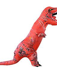 abordables -Dinosaure Costume Gonflable Adultes Adulte Homme Halloween Halloween Fête / Célébration Rayon / polyester Rouge Homme Femme Déguisement Carnaval / Collant / Combinaison / Manuel D'Utilisation