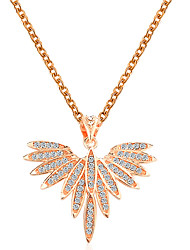 cheap -Women's Pendant Necklace Necklace Classic Angel Wings Korean Fashion Cute Elegant Copper Imitation Diamond Gold Silver 51 cm Necklace Jewelry 1pc For Daily