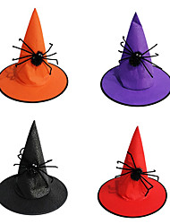cheap -1Pc Party Decoration Adult Women Cool Black Witch Hat for Halloween Costume Accessory Black Halloween Party Hat Accessories