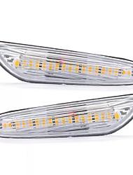 cheap -2pcs LED Side Marker Lights Turn Signal Lamp Amber Pair For BMW E82 E88 E60 E61 E90 E91 E92 E46