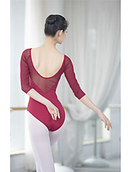 cheap -Ballet Outfits / Unitards Women's Training / Performance Tulle / Ice Silk Split Joint High Leotard / Onesie / Pants