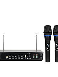 Недорогие -K6 UHF беспроводной микрофон система с двухканальным портативным микрофоном караоке мини портативный миксер беспроводной домашний кинотеатр