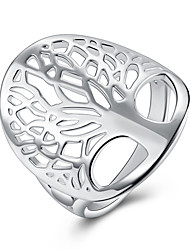 cheap -Women's Ring 1pc Silver Silver-Plated Alloy Daily Jewelry Cute