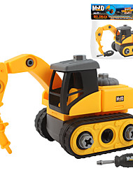 cheap -Toy Car Vehicles Construction Vehicle Drill School Hand-made Parent-Child Interaction Plastic Shell leatherette Boys and Girls
