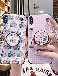 cheap -Case For Apple iPhone XS / iPhone XR / iPhone XS Max with Stand / IMD / Pattern Back Cover Cartoon TPU