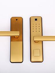 cheap -Factory OEM 3011 Zinc Alloy lock / Fingerprint Lock / Intelligent Lock Smart Home Security Android System Fingerprint unlocking / Password unlocking Home / Office / Hotel Wooden Door / Composite Door