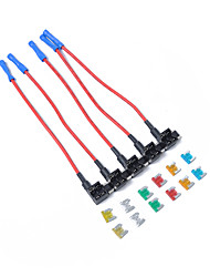 cheap -5 x Mini Add-a-circuit Car Auto Low Profile Blade Style In-line Fuse Holder with 12pcs Fuse