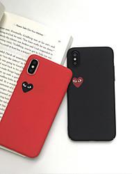 Недорогие -Кейс для Назначение Apple iPhone XS / iPhone XR / iPhone XS Max С узором Кейс на заднюю панель С сердцем Твердый Кожа PU