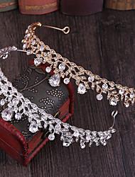 cheap -Crystal / Alloy Tiaras / Headpiece with Floral / Metal / Crystals / Rhinestones 1 pc Wedding / Birthday Headpiece
