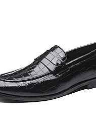 cheap -Men's Moccasin Synthetics Spring / Fall Casual / British Loafers & Slip-Ons Non-slipping Black / Brown / Party & Evening / Party & Evening / Driving Shoes