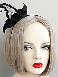 cheap -Women's Headbands For Halloween Theme Party Flower Series Braided Fabric Iron Black 1