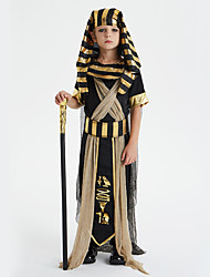 cheap -Egyptian Costume Cosplay Costume Outfits Kid's Boys' Cosplay Halloween Halloween Festival / Holiday Polyster Black Carnival Costumes / Leotard / Onesie / Headpiece / Belt