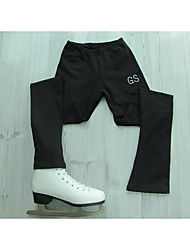 cheap -Figure Skating Pants Women's Girls' Ice Skating Pants / Trousers Black Stretchy Training Competition Skating Wear Classic Figure Skating