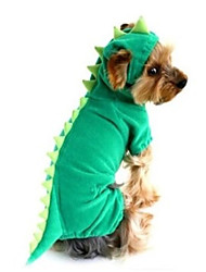 cheap -Dog Halloween Costumes Outfits Animal Holiday Halloween Winter Dog Clothes Green Costume Polyster XS S M L XL