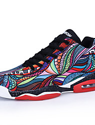 cheap -Unisex Basketball Shoes Comfort Shoes Casual Athletic Outdoor Basketball Shoes Microfiber Breathable Non-slipping Wear Proof Black / Rainbow Spring & Summer / Fall & Winter