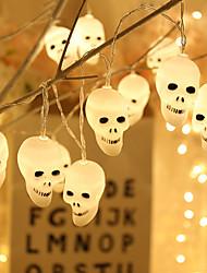 cheap -Cute Halloween Led String Light Ghost Skull Decorative Lights Fairy LED Garland Indoor Interior Decoration Battery Power Supply JQ