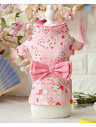 cheap -Dogs Cats Pets Dress Dog Clothes White Green Pink Costume Polyster Print Japan and Korea Style XS S M L XL
