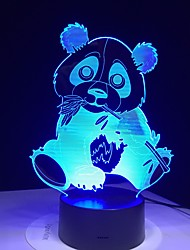 cheap -3D Nightlight For Children Creative Birthday Animal Design Cartoon Cute USB 1pc