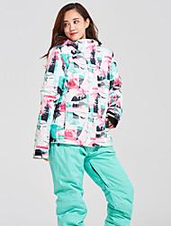 cheap -Women's Ski Jacket with Pants Snowboarding Winter Sports Waterproof Windproof Warm Polyester / Cotton Clothing Suit Ski Wear