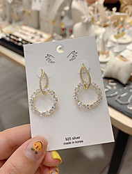 cheap -Women's Earrings Classic Alphabet Shape Candy Gold Plated S925 Sterling Silver Earrings Jewelry Gold For Gift Daily Festival 1 Pair