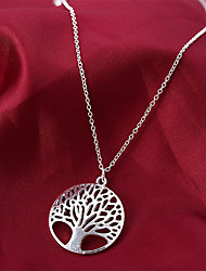 cheap -Pendant Necklace Women's Classic AAA Cubic Zirconia life Tree Classic Cute Silver 45 cm Necklace Jewelry 1pc for Daily