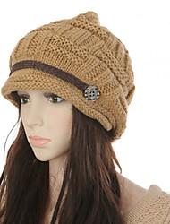 cheap -Women's Floppy Hat Knitwear Party Basic Cute - Color Block Fall Winter White Black Blushing Pink