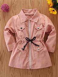 cheap -Kids Girls' Basic Print Regular Suit & Blazer Blushing Pink