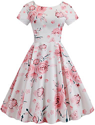 cheap -Women's Sheath Dress - Floral Blushing Pink S M L XL