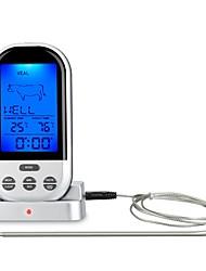 Недорогие -Беспроводной термометр для приготовления пищи жк-барбекю таймер цифровой зонд термометр для мяса манометр кухня кухонные принадлежности