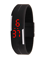 cheap -Men's Digital Watch Digital Sporty Stylish Rubber No LED Light Casual Watch Digital Casual Fashion - Black White Fuchsia One Year Battery Life