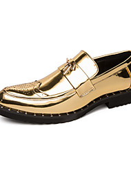cheap -Men's Comfort Shoes PU Fall Casual Loafers & Slip-Ons Wear Proof Black / Gold / Party & Evening / Beading / Party & Evening / Office & Career