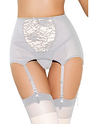 cheap -Women's Lace Briefs - EU / US Size High Waist Black White Red S M L