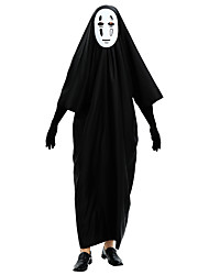 cheap -Ghost Cosplay Costume Outfits Adults' Men's Cosplay Halloween Halloween Festival / Holiday Polyster Black Men's Carnival Costumes / Leotard / Onesie / Gloves / Mask