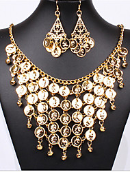 cheap -Women's Bridal Jewelry Sets Geometrical Folk Style Earrings Jewelry Gold For Party 1 set