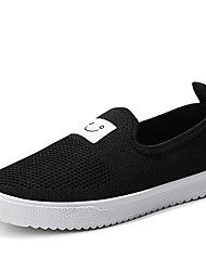 cheap -Women's Flats Flat Heel Round Toe Canvas Sweet / Minimalism Walking Shoes Spring &  Fall Black / White