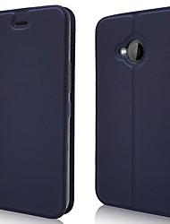 Недорогие -Кейс для Назначение HTC HTC U11 plus / HTC U11 Life Бумажник для карт / Магнитный / Авто Режим сна / Пробуждение Чехол Однотонный Кожа PU / ТПУ
