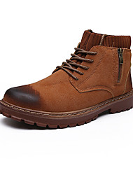 cheap -Men's Fashion Boots PU Fall Casual Boots Non-slipping Mid-Calf Boots Black / Brown / Gray