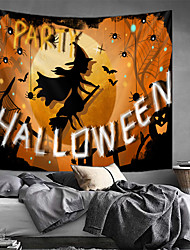 cheap -Classic Theme / Halloween Wall Decor 100% Polyester Classic / Traditional Wall Art, Wall Tapestries Decoration